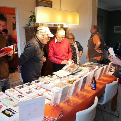Editions Traverse et Daniel Simon avec...au deuxième Narrathon à Limal.