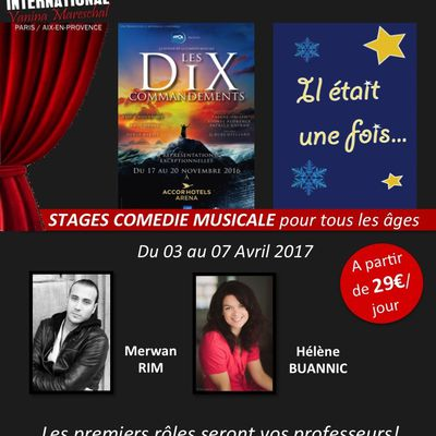 STAGES COMEDIE MUSICALE D'AVRIL