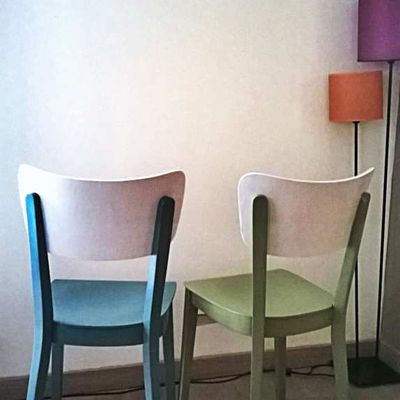 DUO CHAISES VINTAGE STYLE SCANDINAVE