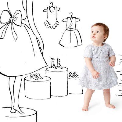 Traduction : petite robe à encolure feuille (6 -12 - 18mois)