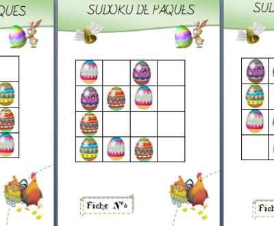 Pâques : Un sudoku