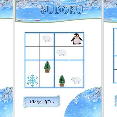 La banquise : le sudoku à manipuler