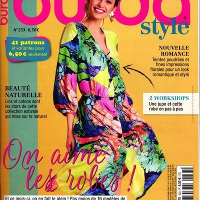Magazines de mai 2019: 2 Burda, Couture Actuelle, Sandra Créatif