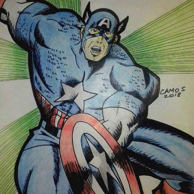 Capitán América Clásico / Marvel / Fanart por Camos