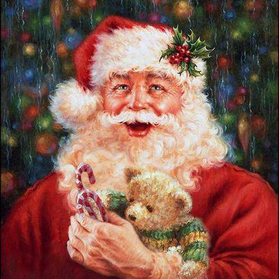 Le Père Noël en illustration par Dona Gelsinger