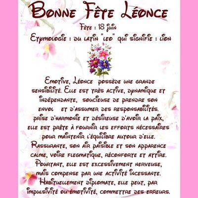 Carte Bonne Fête Léonce - 18 juin