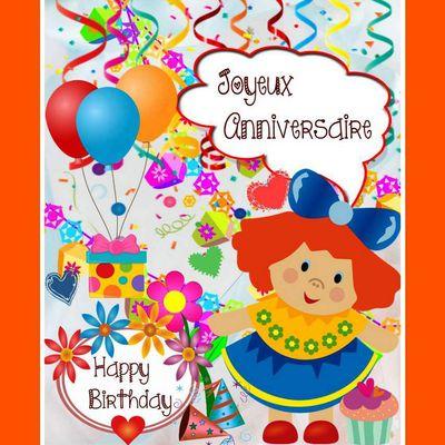 Cartes anniversaires - enfants à imprimer