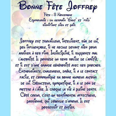 Carte Bonne Fête Joffrey - 8 Novembre