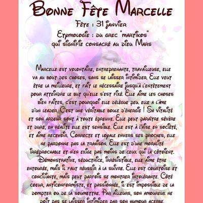 CarteBonne Fête Marcelle - 31 janvier