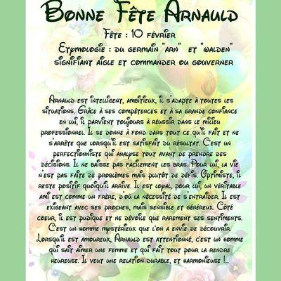 CarteBonne Fête Arnauld -10 février