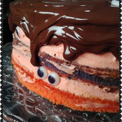Halloween part 2 - Le gâteau monstre façon piñata cake