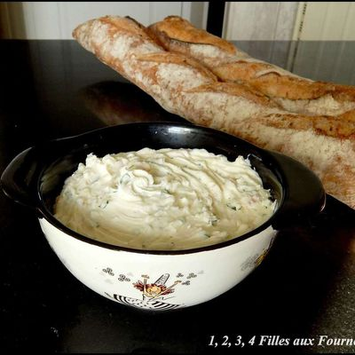 Tartare fromage blanc échalote - ciboulette