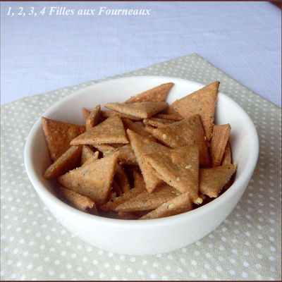 Triangles apéritifs au pavot