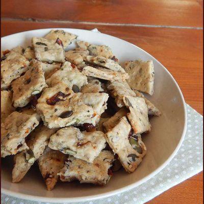 Biscuits apéritifs vegan aux graines IG bas  (un régal !!!)