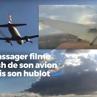 Un passager filme le cash de son avion depuis son hublot #choc