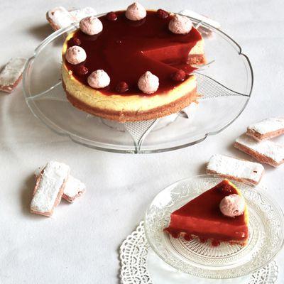 Cheesecake tout rose