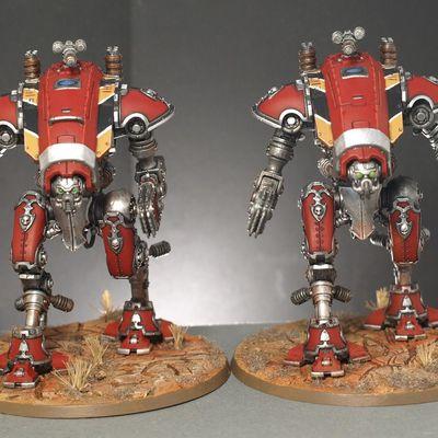 Armée d'Adeptus Mechanicus : Onagre, Armigers warglaives, skitarii rangers et vanguard