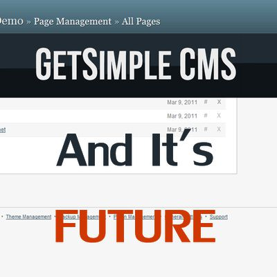 GetSimple - the world's most simple CMS with an uncertain future