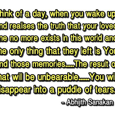 Abhijith Sanakan Quote's