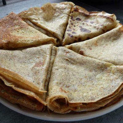 Crêpes sans gluten, sans lactose et au sucre de bouleau (gluten/lactose free)