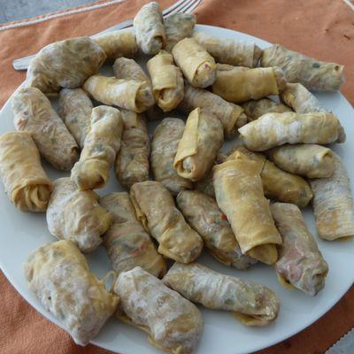 Rouleaux VG un peu comme des rouleaux thaïs, aux légumes d'hiver
