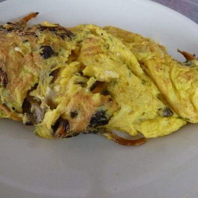 Chanterelles en omelette