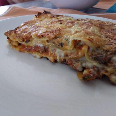 Une prep. de base pour deux plats: Lasagne aux champignons...
