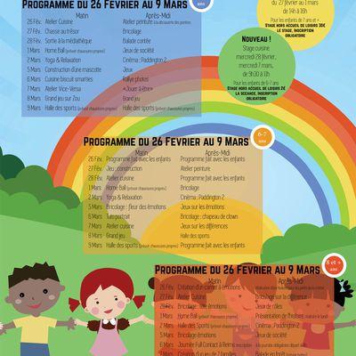 PROGRAMME DES VACANCES D'HIVER  ENFANTS et ADOS