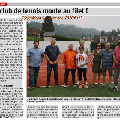 Algrange refection d'un court de tennis 2018