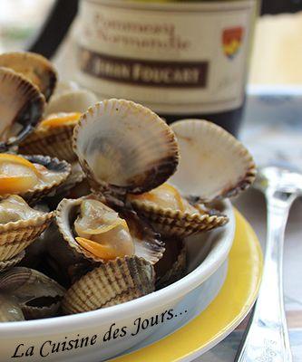 Coques au Cidre et Pommeau Normand à la Crème