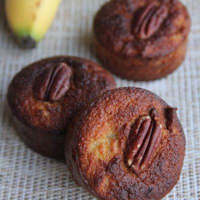 Muffins à la banane & aux noix, recette paléo