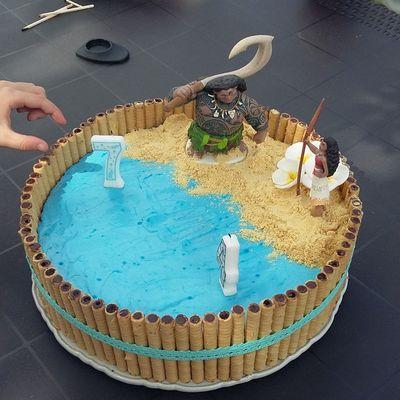 Gâteau d'anniversaire Vaiana
