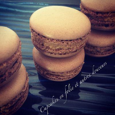 Macarons Chocolat & Poivre rose