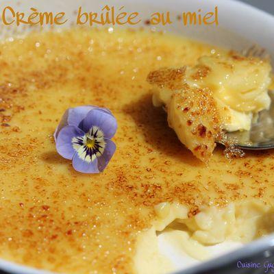 Crèmes brûlées au miel (sans lactose)