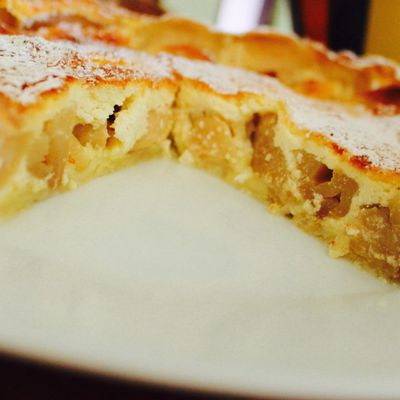 Tarte aux pommes, fromage blanc