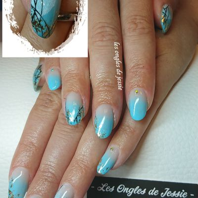 french babycolor turquoise touche d'or et empreinte digitale