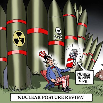 The arms race:  Blurring the boundary between nuclear and non-nuclear