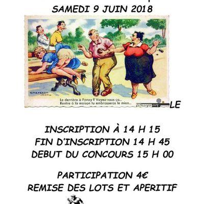 CONCOURS DE PETANQUE DU 9 JUIN 2018