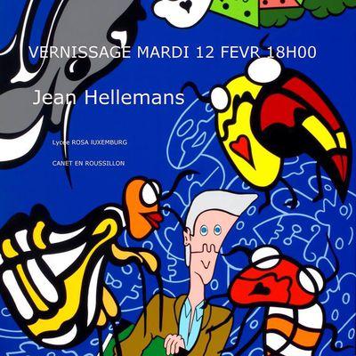 Un monde nouveau, avec le maire de Perpignan - Peinture : Jean ELLEMANS et Michel PAGNOUX - Poésie : Evelyne MAURESO - Littérature :  Hélène LEGRAIS -