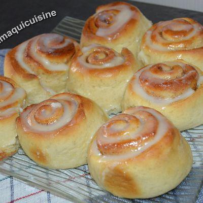 Roulés à la cannelle  ou Cinnamon rolls