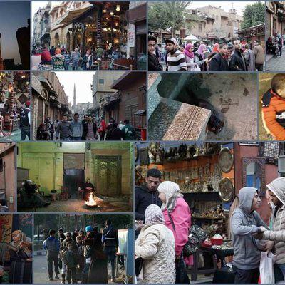 Babel El Nasr in Old Cairo people