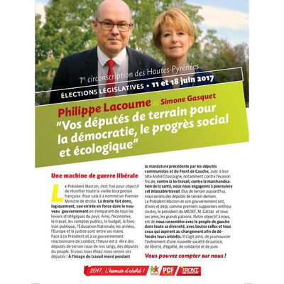 Législatives 2017 : 4 pages circo 1