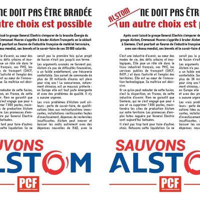 Alstom : distribution de tracts et pétition sur le site de Soues-Séméac