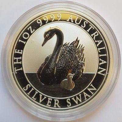 2017-2018 série semi numismatique: Le cygne / 2017-2018 silver bullion coin: The swan