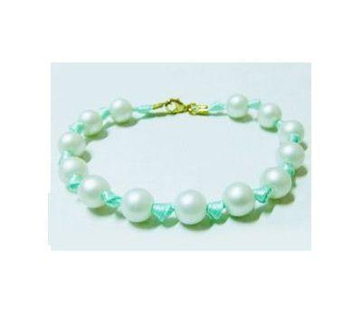 "Bracelet ""Perles et ruban"" 01 TUTO"