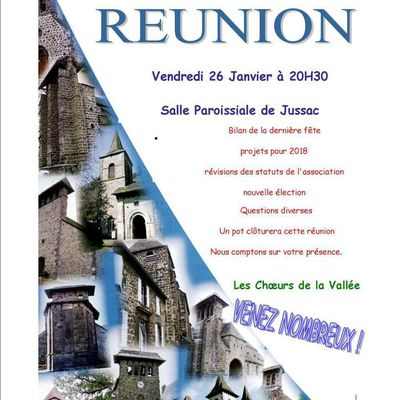 ASSOCIATION AUX CHOEURS DE LA VALLEE - REUNION
