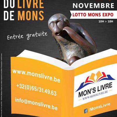 Mon's livre - Le plus grand salon du livre de Wallonie (B) les 25 et 26 novembre 2017 - Entrée gratuite