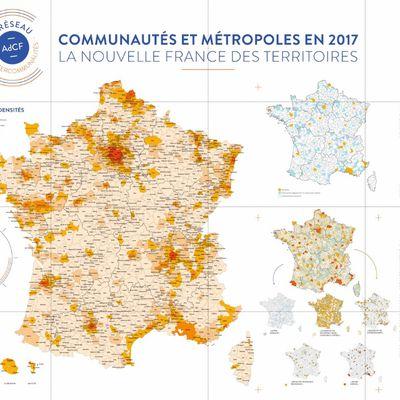 Carte de France grand format et gratuite de l'intercommunalité