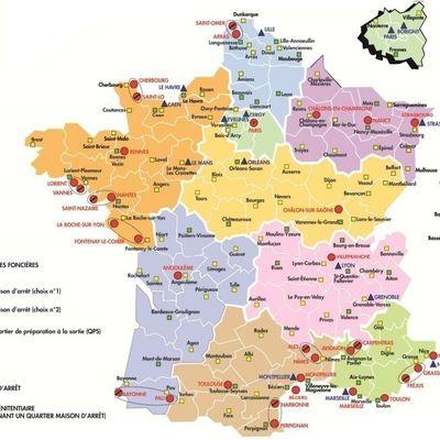 Etat des lieux des prisons françaises en cartes