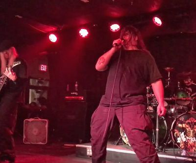 George ''Corpsegrinder'' Fisher (Cannibal Corpse) joins ex-Deicide members (Amon) On Stage!